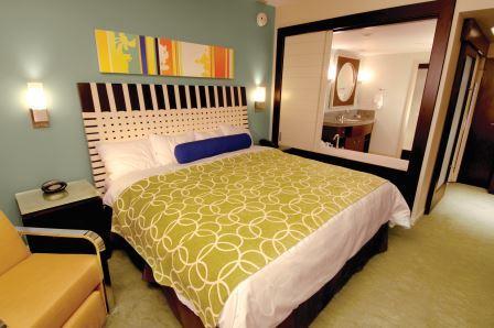Bay Lake Tower at the Contemporary Villa Master Bedroom