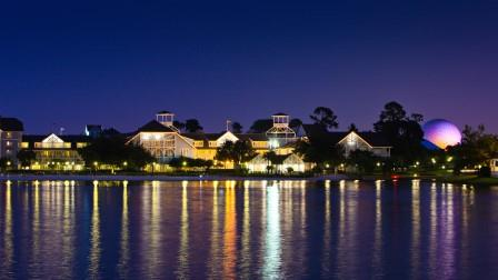 Beach Club Lake with Epcot