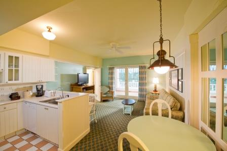 Disneys boardwalk villas moments of magic travel boardwalk villa living room sciox Image collections