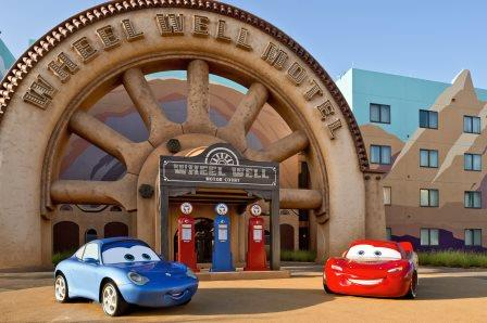 Disney's Art of Animation Cars Wheel Well Hotel
