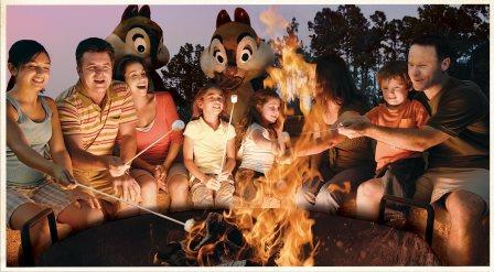 Fort Wilderness Cabins Smores with Chip N Dale