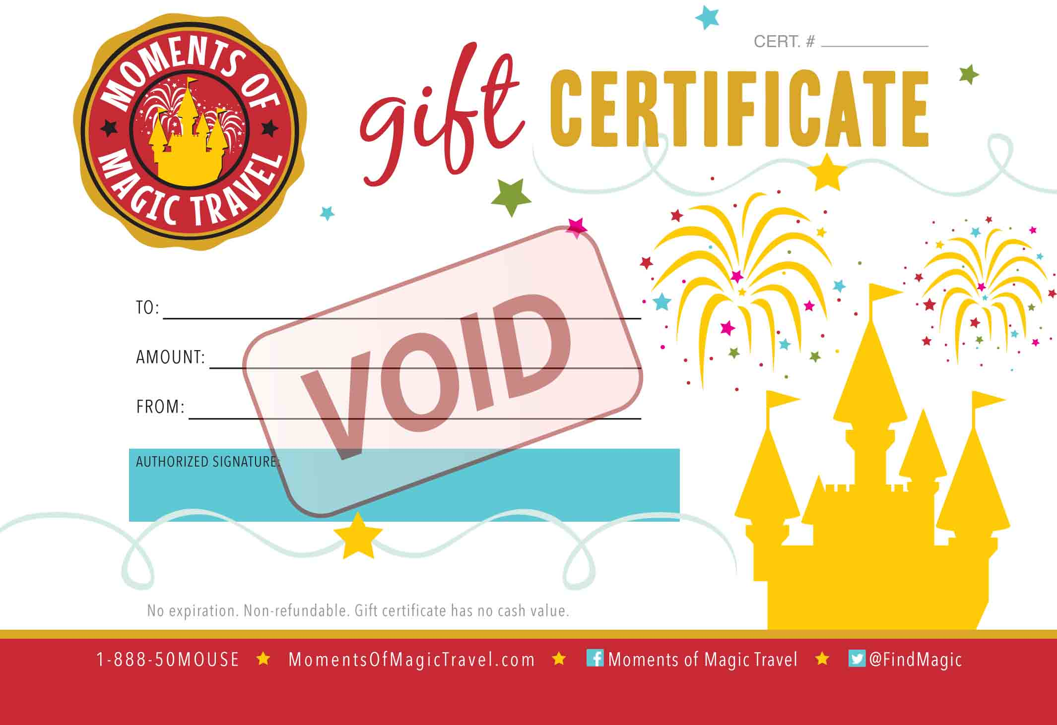 Moments of magic travel authorized disney vacation planner giftcertificatesample yelopaper Choice Image